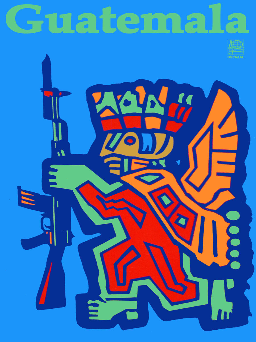 "Primary image for 16x20""Political World Solidarity Socialist Poster CANVAS.Guatemala Maya.6239"