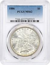 1886 $1 PCGS MS62 - Morgan Silver Dollar - $63.05