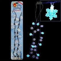 Flashing Christmas Necklace w/ Light Up Snowflakes Bulbs Bulk Lot (Pack ... - $64.30