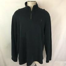 Polo Ralph Lauren Men's Size XL Black 1/4 Zip Sweater Shirt Long Sleeve - $13.98