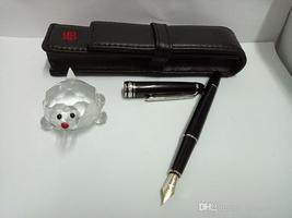 High quality Resin Material 163 Platinum MB Founatain Pen Black body silver clip - $53.99
