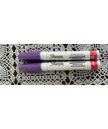 Two Brand New Sharpie Oil Based Paint Markers Purple Ink Medium Tip 35556 - £5.79 GBP