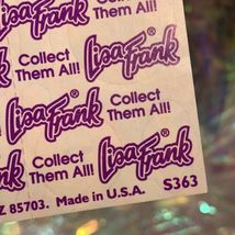 S363 Mint Lisa Frank  Rainbow White Tiger Stickers Full Sheet Rare HTF image 3