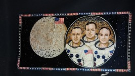 Vintage 1969 Apollo Moon Landing TAPESTRY of Astronauts ARMSTRONG ALDRIN... - $182.33