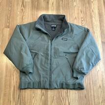 Vintage Lands End Squall Jacket Coat Green Polartec Fleece Lined Mens Si... - $39.99