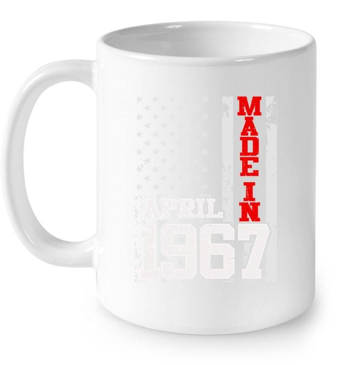 Made In Legends Born In APRIL 1967 Vintage 51 Yrs Years Old Gift Coffee Mug