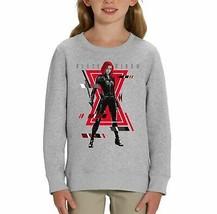 Marvel Studios Black Widow Glitch Portrait Print Children's Unisex Grey ... - $24.08