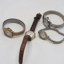 Lot of 4 Ladies Timex Wrist Watches Ladies Watch - $44.51