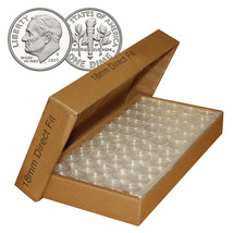 DIME Direct-Fit Airtight 18mm Coin Capsule Holders For DIMES (QTY: 1000) - $222.75