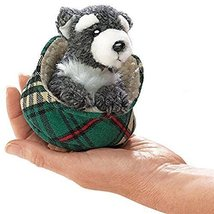 Folkmanis Mini Schnauzer In Bed Finger Puppet - $26.30
