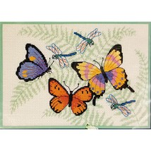 Flying Beauties Counted Cross Stitch Kit 7x5 Dimensions 16692 Butterflies c2681 - $11.99