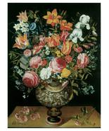 "11x14""Poster on Canvas.Home Room Interior design.Flower bouquet vase.6491 - $28.05"