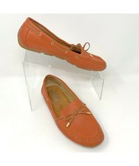Montana Womens Slip on Leather Loafers, Size 8, Coral, Lace Accent - $23.02
