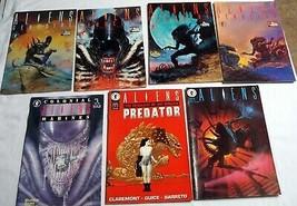 7 Dark Horse Aliens Comics Genocide #1 thru #4 Complete Colonial Marines #1 - $12.99