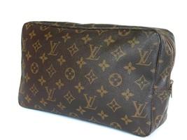 Auth Louis Vuitton Trousse Toilette 28 Monogram Canvas Cosmetic Pouch Bag LP1990 - $189.00