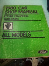 1980 Ford Car Shop Manual Engine Diagnosis Emissions All Models - $9.89