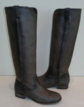 Frye Size 7 M CARA TALL Smoke Washed Oiled Leather Boots New Womens Shoes - $414.81