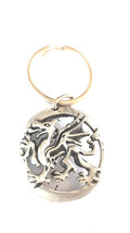 british pewter welsh dragon design keyring, keyring, keyfob, keychain,  uk,