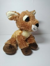"Aurora Fawn Deer Plush Brown With White Spots 10"" 2016 Soft Stuffed Animal - $15.83"