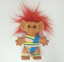 "5.5"" Vintage Uneeda Wishnik Troll Original Exercise / Fitness Clothes Red Hair - $25.76"