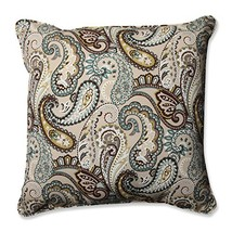 Pillow Perfect Outdoor/ Indoor Tamara Paisley Quartz 25-Inch Floor pillow - £34.69 GBP