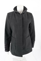 French Connection Womens Coat Jacket S Charcoal Gray Zip-Up Inner Lining - $38.61