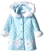 Bonnie Jean Baby Girls 3M-9M Aqua-Blue/White Snowflake Hooded Fleece Coat - $26.90