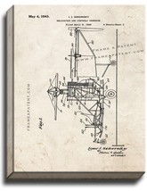 Helicopter And Controls Therefor Patent Print Old Look on Canvas - $39.95+