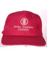 Boise Cascade Denver Hat-Adjustable Snapback-Cap-Dark Red-Lumber Yard-Vt... - $23.36