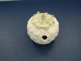 vintage white berry shaped jam pot  jelly jar made in Japan ceramic - $19.75