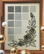 Zweigart Blackwork Embroidery Leaflet Flowers Learn 12 Blackwork Pattern... - $4.70
