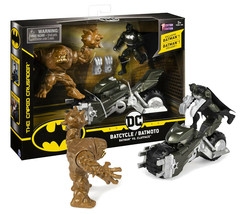 DC The Caped Crusader Batcycle Batman vs Clayface Mint in Box - $19.88