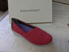 Rockport Women's Size 6.5W Pinkish Red Emalyn Slip-on Sneaker Shoes  - $14.74