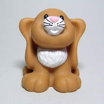 Fisher Price Little People BUNNY RABBIT Brown Lopp Ears Cottontail McDon... - $5.00