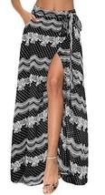 Afibi Womens Flowy Chiffon Summer Beach Wrap Split Maxi Skirts with Pockets X-La - $25.72