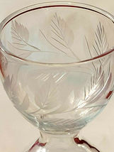 Set of 5 HOURGLASS Shaped Etched Glass Stemmed Shot / Layered Liqueur Glasses image 6