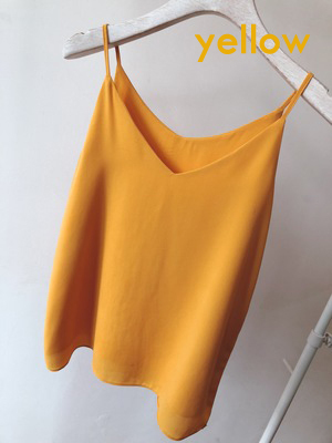 Bridesmaid chiffon tops yellow 1