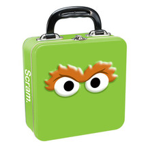 Sesame Street Oscar the Grouch Eyes Square Carry All Tin Tote Lunchbox, ... - $16.40