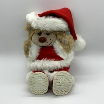 Ace Novelty Brown Plush Bear Dressed in Red Santa Suit and Hat Vintage - $24.70