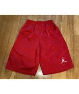 Boys Jordan Mesh Shorts Red Medium - $8.80