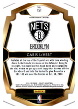 Caris LeVert 2018-19 Panini Select Card #151 image 2