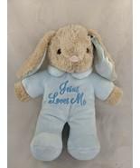 "Dan Dee Rabbit Plush Blue 10"" Sings Jesus Loves Me Stuffed Animal Toy - $12.95"