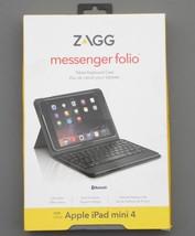 New ZAGG Messenger Folio Tablet Bluetooth Keyboard Case for iPad mini 4 ... - $91.07