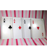 Charming Vintage Playing Card Snack Trays with Cup Holder • 4 of a Kind! - $10.00