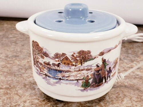 Avon Electric Country Gathering Potpourri Pot No Scent Refills Handles Lid