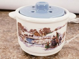 Avon Electric Country Gathering Potpourri Pot No Scent Refills Handles Lid  - $21.32