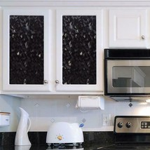 GILA Crystal Noir Privacy Decorative Window Film Static Cling 3 ft x 6.5 ft - $38.77