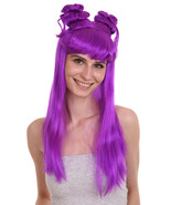 Asian Princess Collection Party Event Ready Cosplay Neon Purple Wig HW-859 - $31.85
