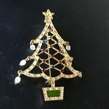 Avon 2nd Annual 2005 Signed Large Rhinestone Encrusted Goldtone Outline ... - $16.69