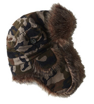 American Eagle 5750329 Trapper Faux Fur Hat, Camo Green, One Size, 8165-6 - $24.74